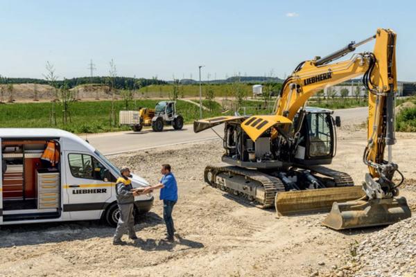 Liebherr parts and service repair for crawler excavator